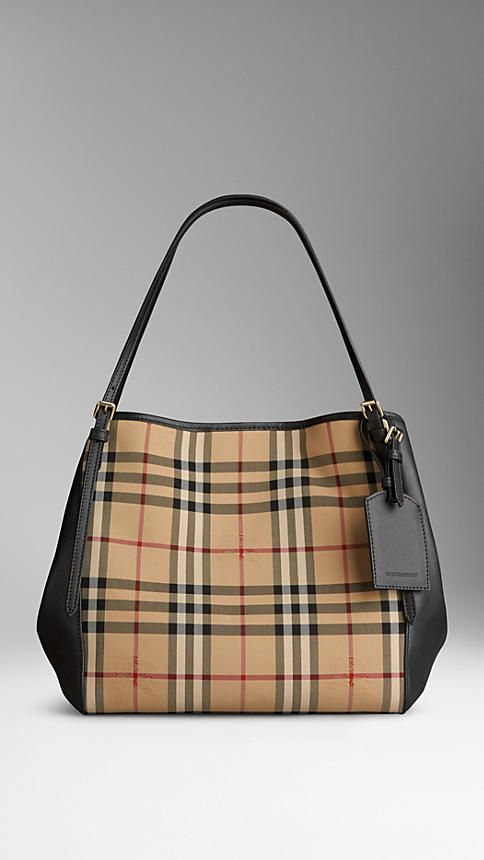 The Small Canter in Horseferry Check and Leather | Burberry