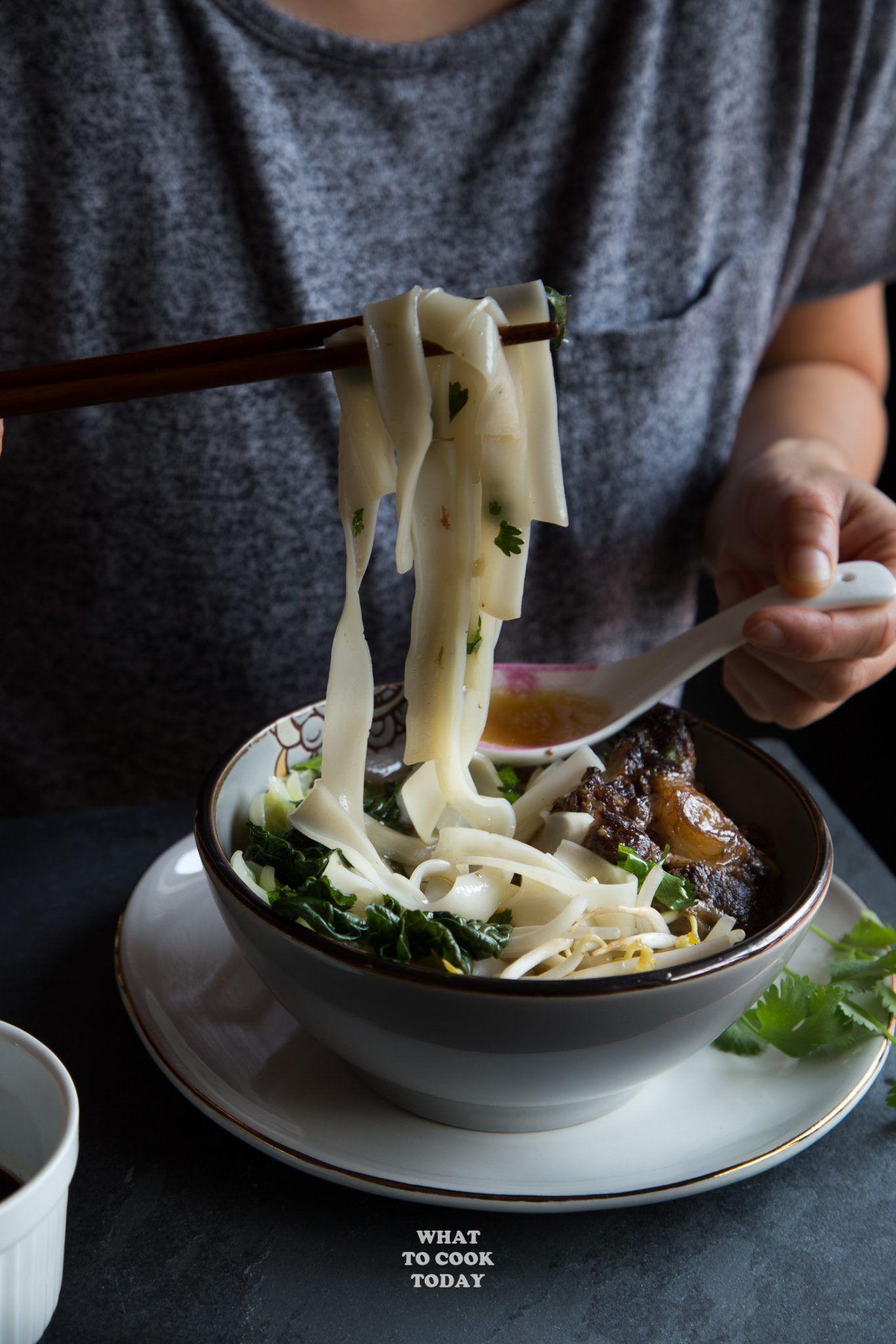 instant pot oxtail ho fun noodle soup instantpot