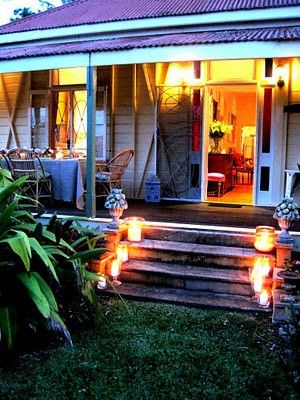 Bungalow Deck Ideas Covered All The Way Across Tin Roof Beach House Decor Beach Cottage Style Beach Bungalows
