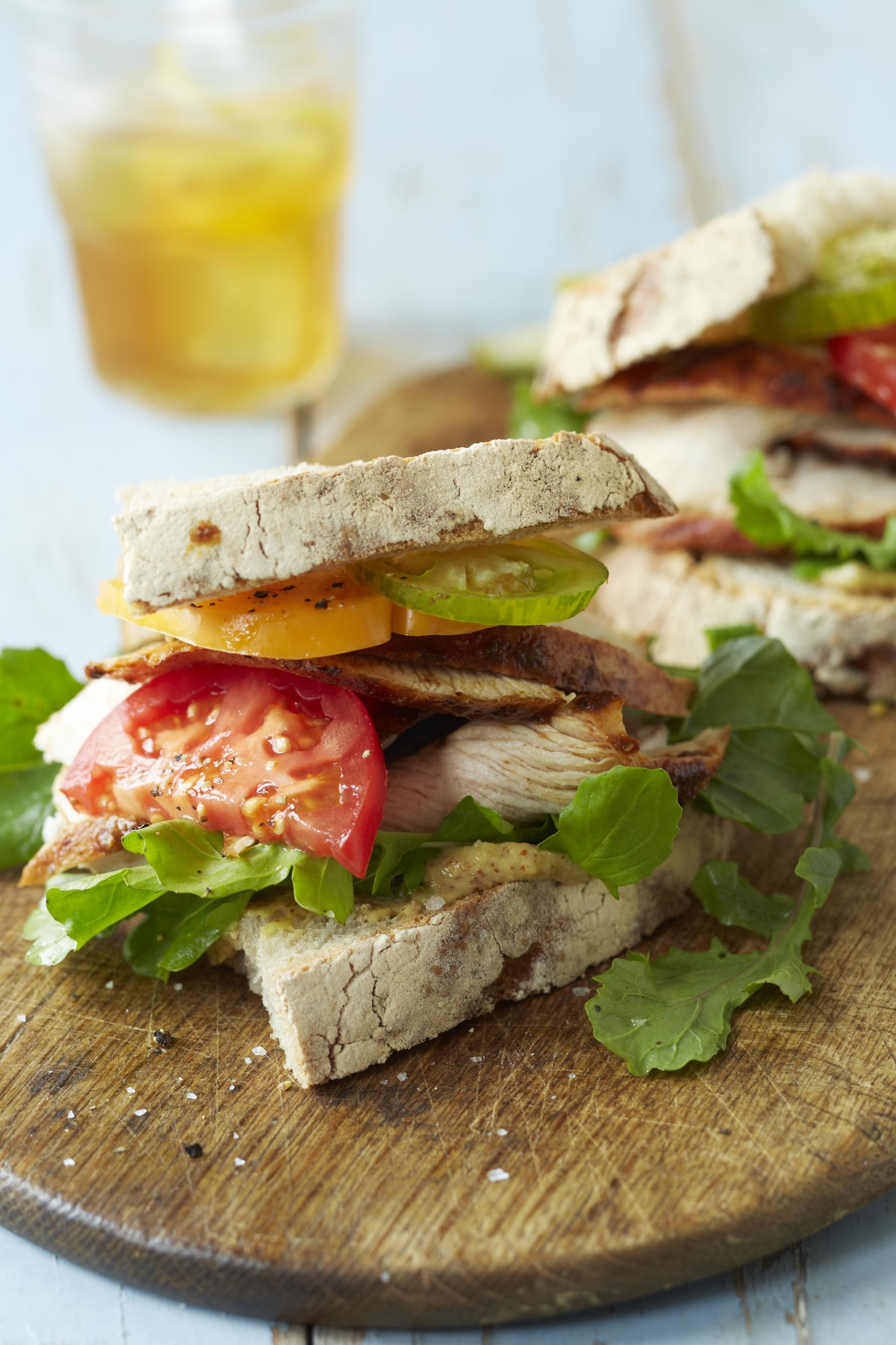 Smoked Turkey Breast with Honey-Maple Glaze #myplate #turkey #grill # sandwich