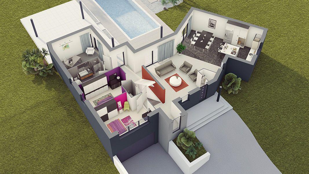 plan de la maison loft 3 maison pinterest. Black Bedroom Furniture Sets. Home Design Ideas