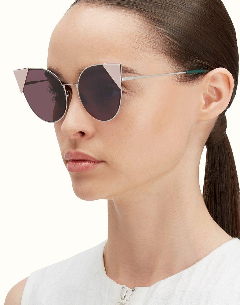 85b66122e3 FENDI LEI - Palladium metal sunglasses
