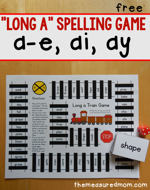 long a spelling patterns free printable game phonics and word study activities spelling. Black Bedroom Furniture Sets. Home Design Ideas