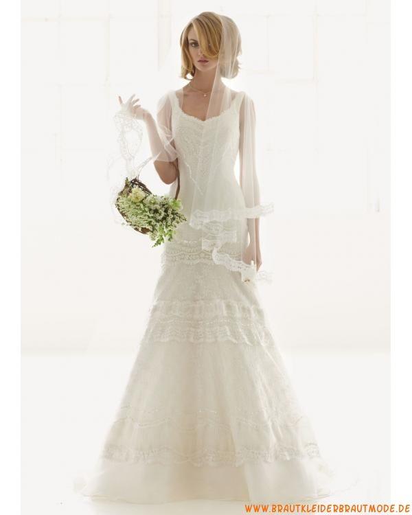2013 Neue rückenfreie Brautkleider aus Satin Meerjungfrau mit ...