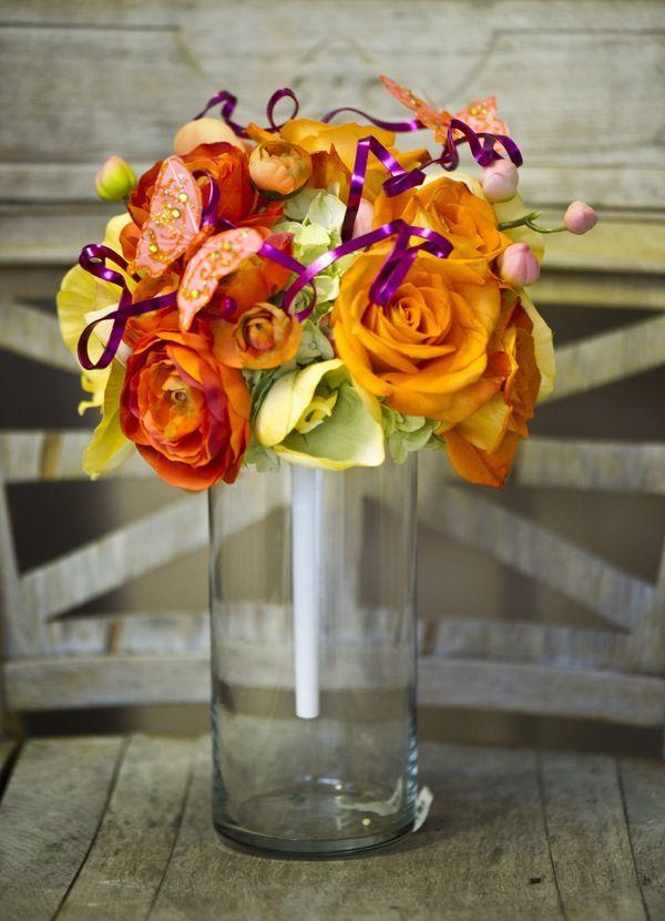 Purple, orange, & yellow bouquet (JBe Photography)