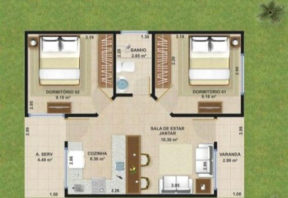 Projetos De Casas De 50m2 Veja Modelos De Plantas Projetos De