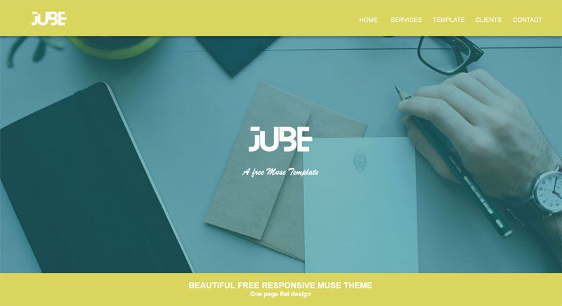 Adobe Muse Responsive Templates flat user interface as a web design ...