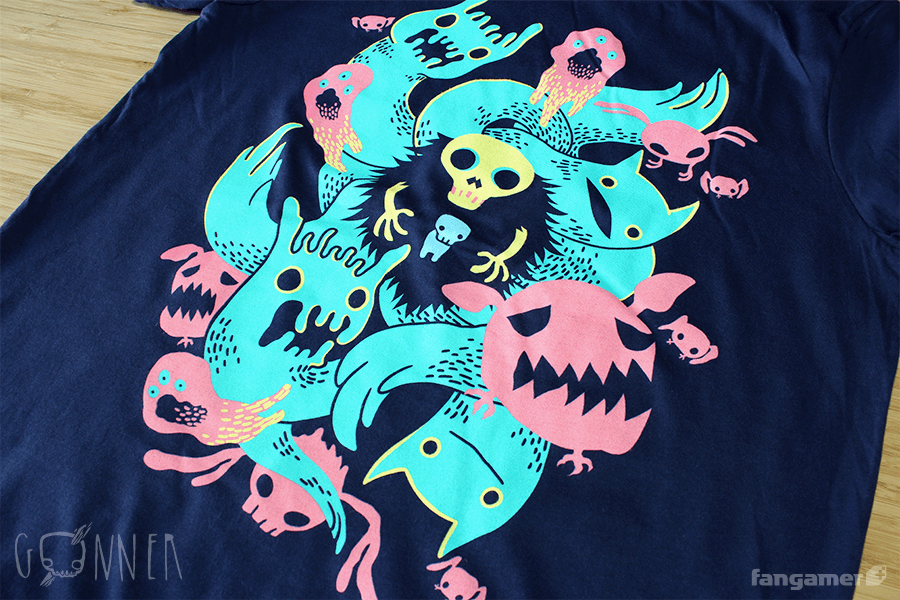Don't let the cute faces fool you. This officialGoNNERshirt was designed by Nina Matsumoto and printed on soft, 100% cotton shirts from Canvas...