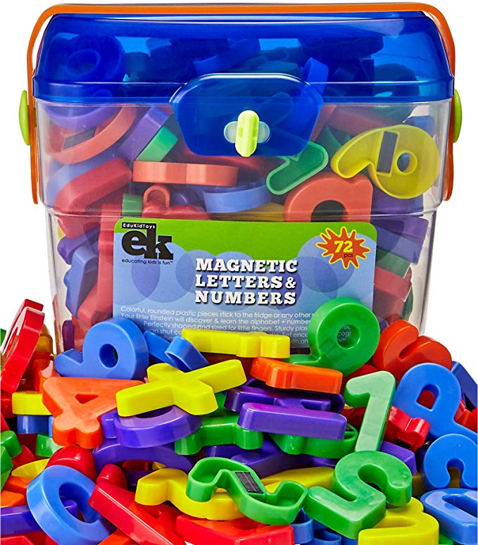 Amazon Com Magnetic Letters And Numbers 72 Educational Refrigerator Fun Learning Plastic Magnets For In 2020 Magnetic Letters Fun Learning Educational Toys For Kids
