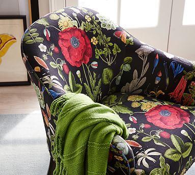Terrific Ellis Upholstered Armchair Poppy Botanical Print Unemploymentrelief Wooden Chair Designs For Living Room Unemploymentrelieforg