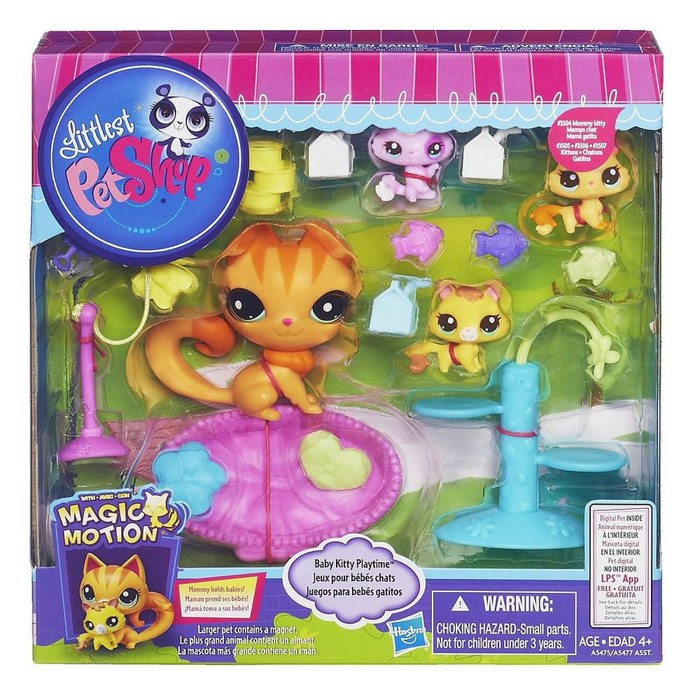 Littlest Pet Shop Magic Motion Set Baby Kitten Playtime