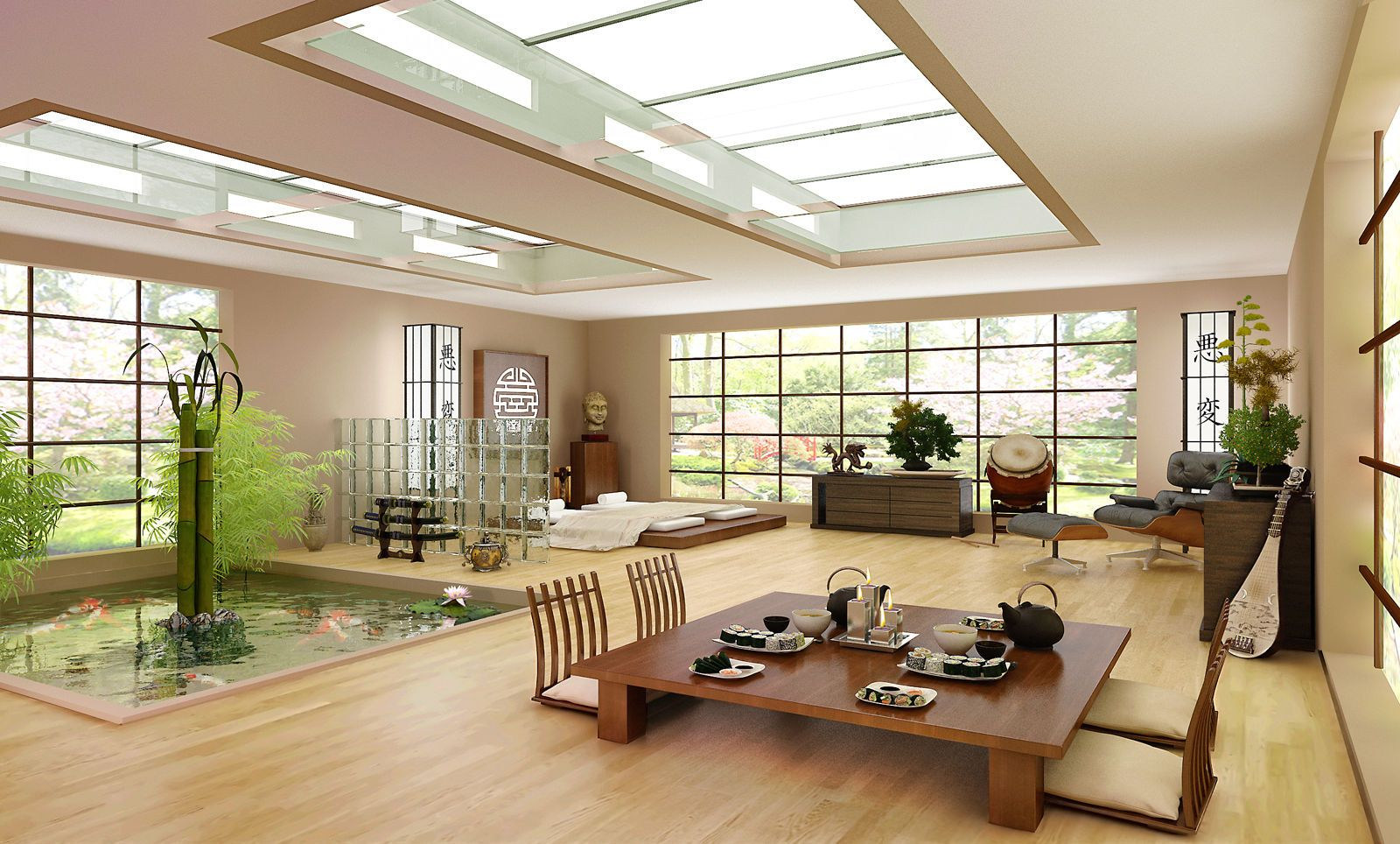 Japanese house interior by Binoy11 Villages Pictures