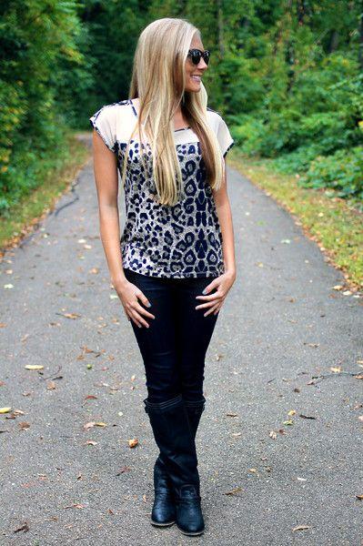 Leopard Grounds Top $22.00 #FallFashion