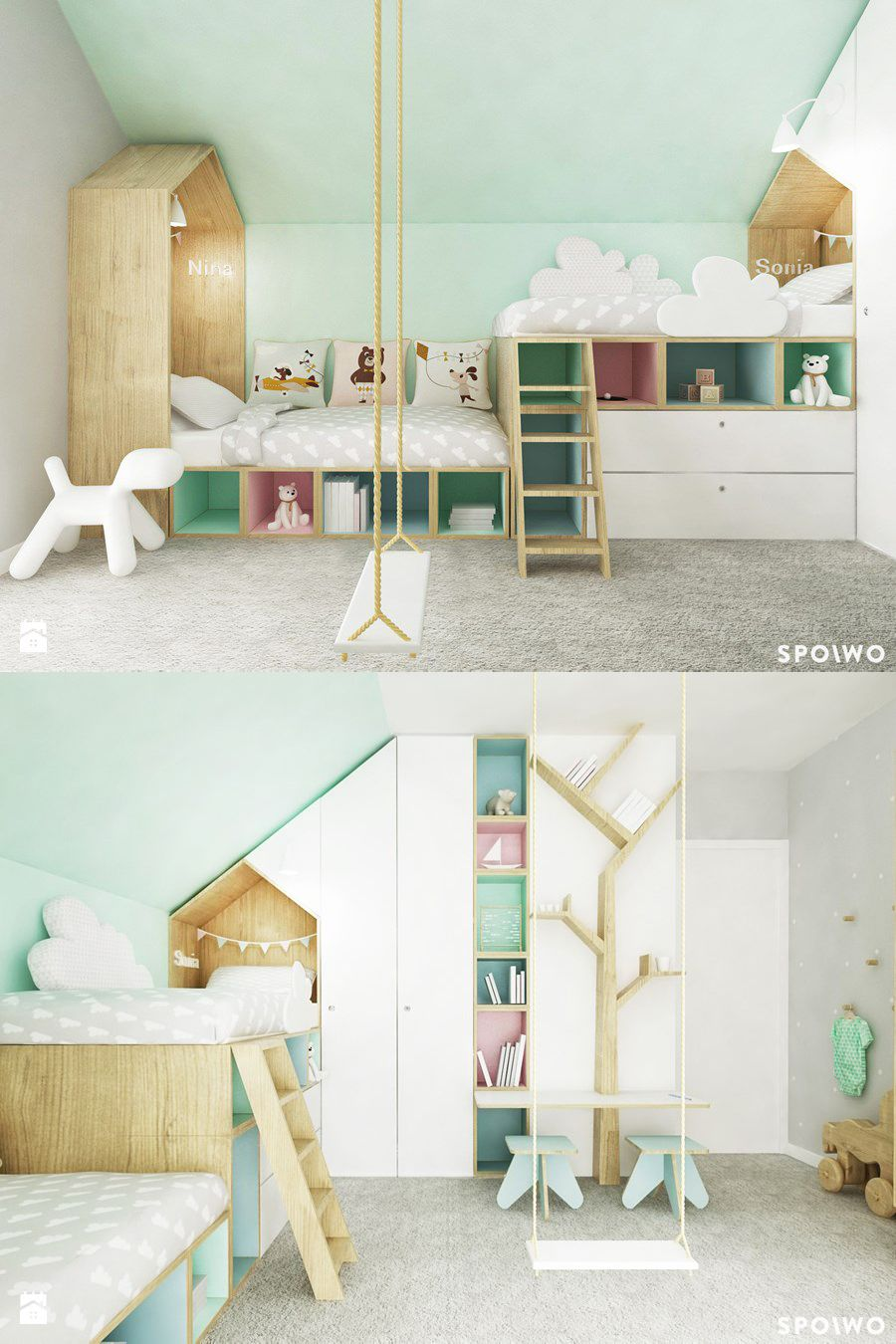 mommo design: LOFT BEDS - kid\'s bedroom | Pinterest - Kinderkamer ...