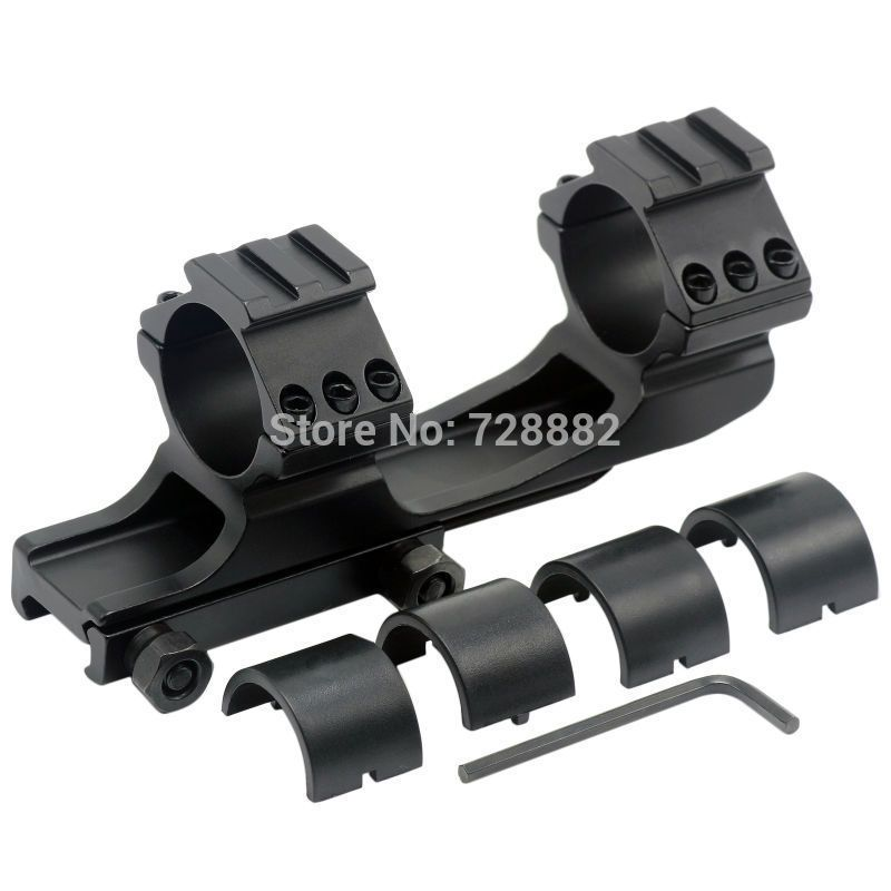 Quick Release 30mm Offset Dual Ring Cantilever Cam Locks Rail Scope Weaver Mount