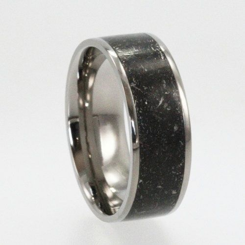 meteorite dinosaur fossil and gold mens wedding ring mens rings pinterest wedding wedding ring and gold - Meteorite Wedding Ring