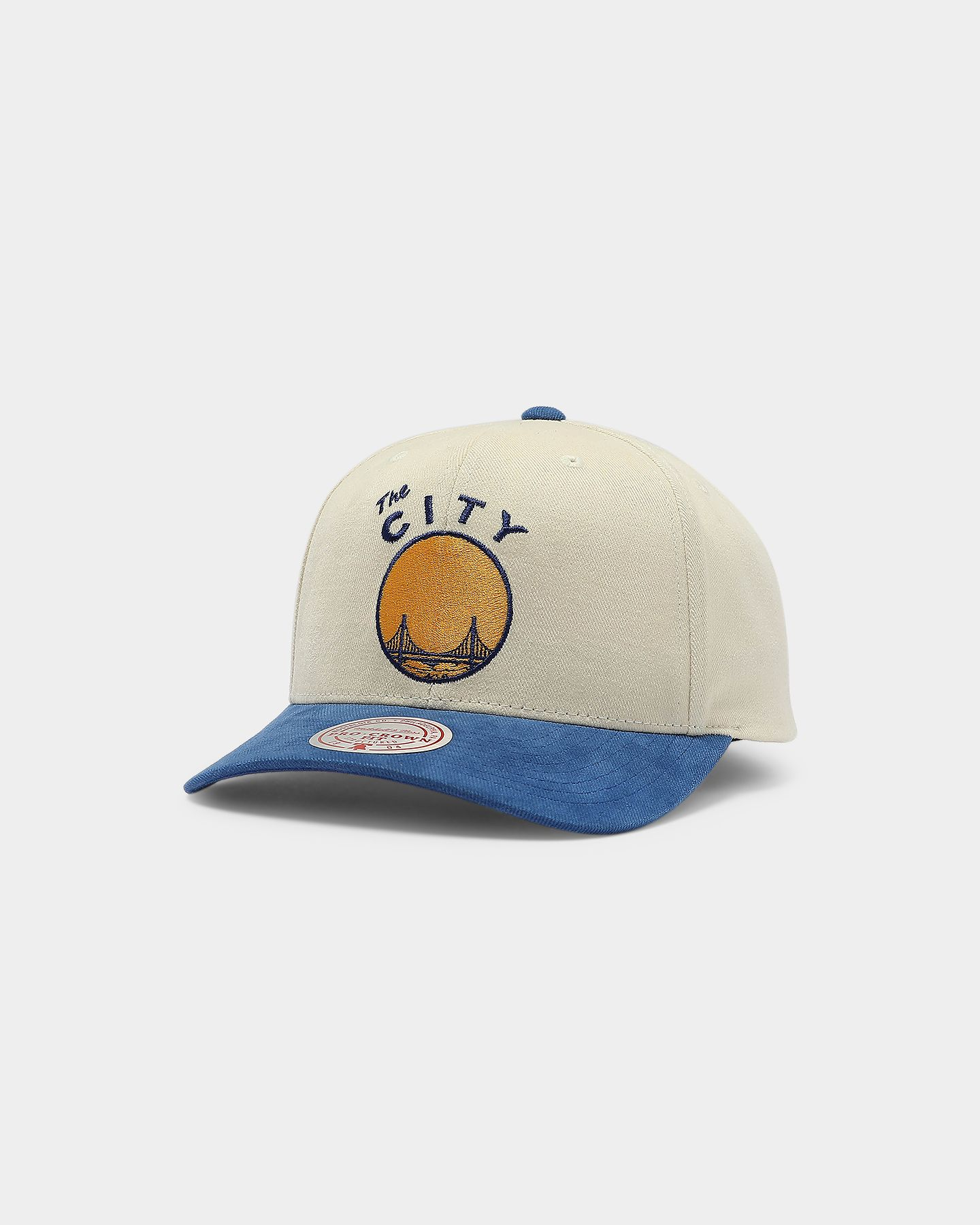 Mitchell Ness Golden State Warriors Go Team Pro Crown Snapback Off White Royal In 2021 Crown Snapback Mitchell Ness Golden State Warriors