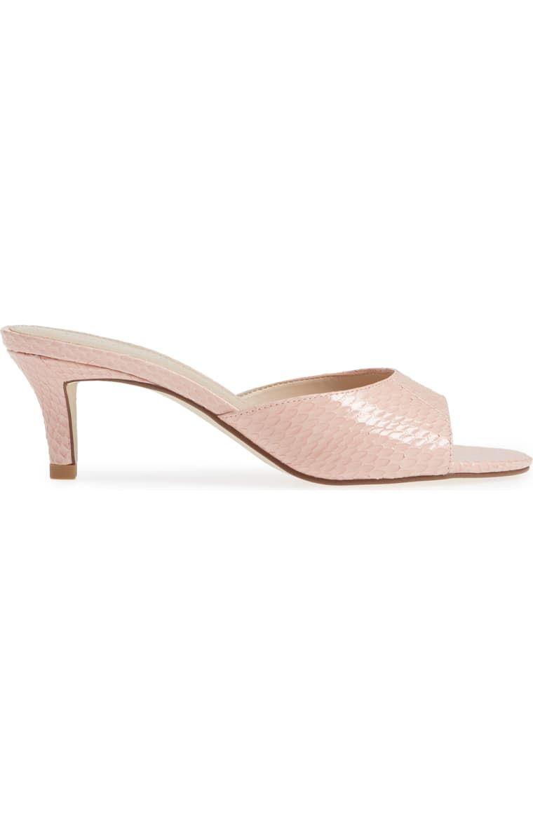 Pelle Moda Bex Kitten Heel Slide Sandal Women Nordstrom In 2020 Womens Sandals Kitten Heels Heels