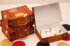 Suitcase Favour Box Template