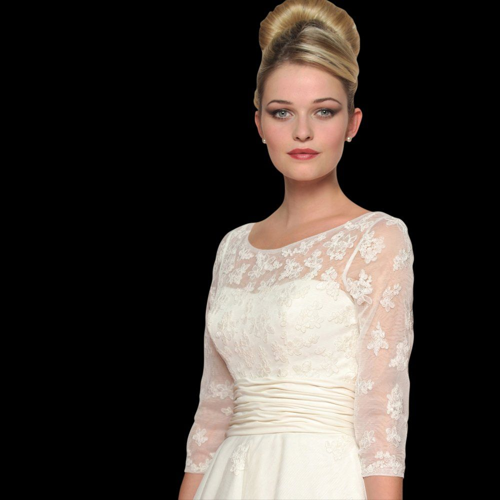 Dahlia vintage style wedding dress with sleeves by loulou style lb