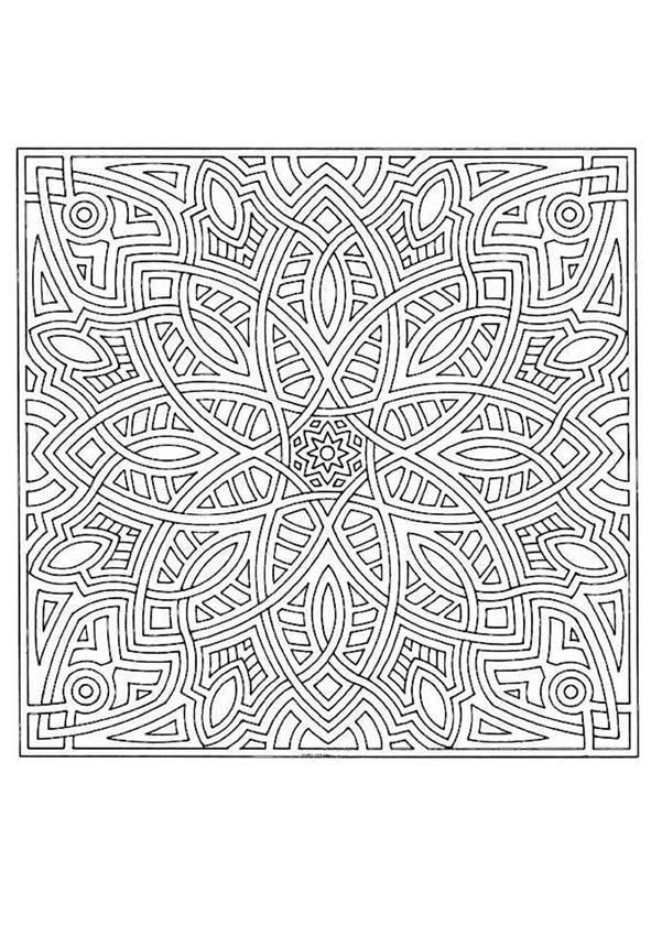 This expert Mandala coloring sheet is a fun design and super ...