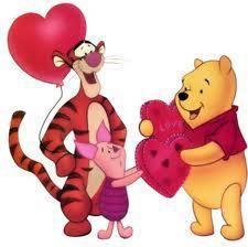 Winnie l/'Ourson Valentin Carte de vœux