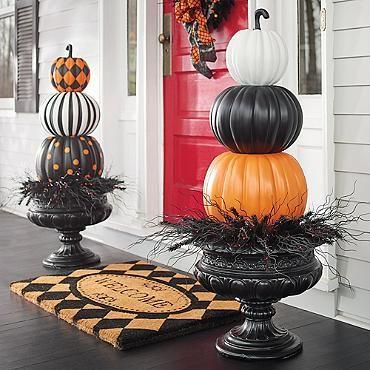 Halloween Stacked Solid Pumpkins - paint craft pumpkins from - michaels halloween decorations