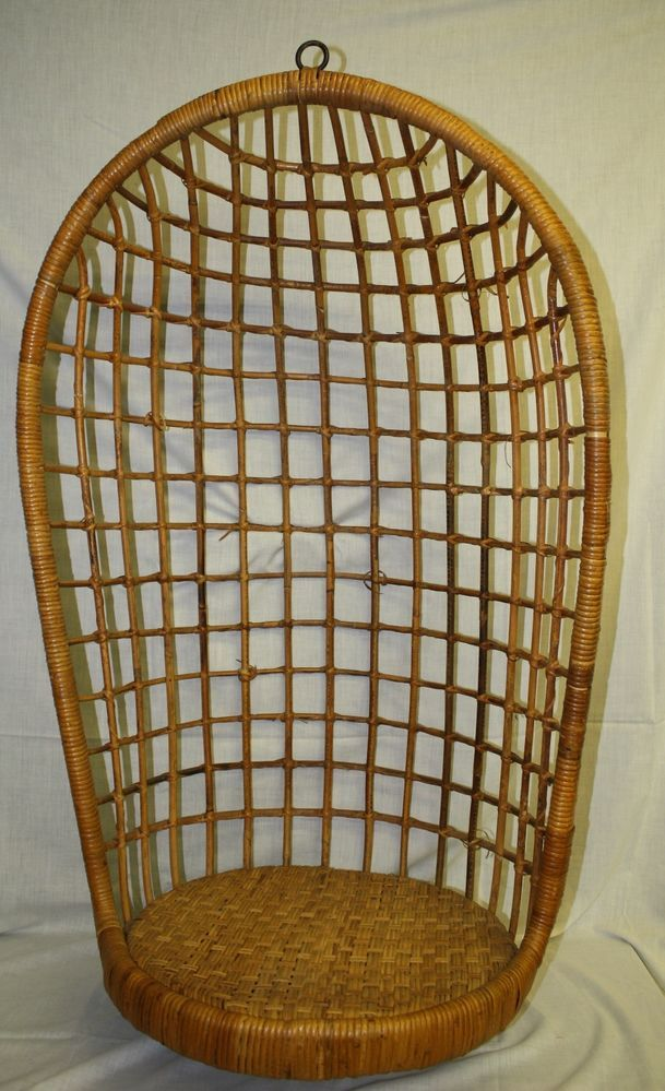 vintage swing hanging chair rattan bamboo wicker hanging. Black Bedroom Furniture Sets. Home Design Ideas
