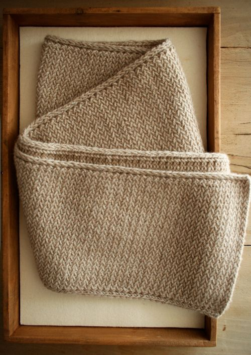 herringbone scarf - free knitting pattern | Knitting | Pinterest ...