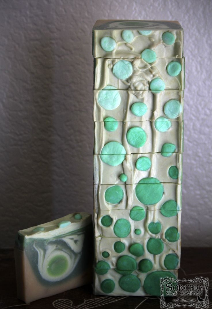 Absinthe Soap with Clay and Silk.