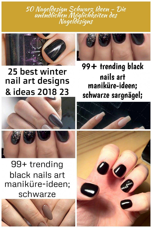 25 Best Winter Nail Art Designs  Ideas 2018 Es ist wahr dass die Farben der Herbstnägel etwas Einzigartiges haben Boix Nagel Ideen Schwarze und silberne Ombré...