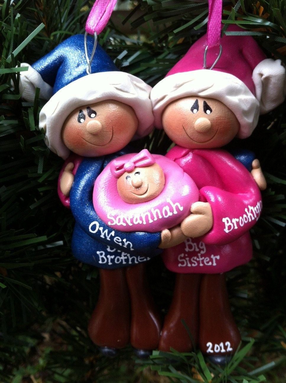 Personalized baby christmas ornaments - Personalized Big Brother Big Sister Little Brother Little Sister With Baby Christmas Ornament