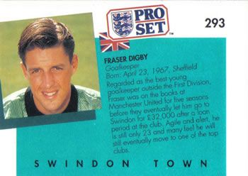 1990-91 Pro Set English League #293 Fraser Digby Back
