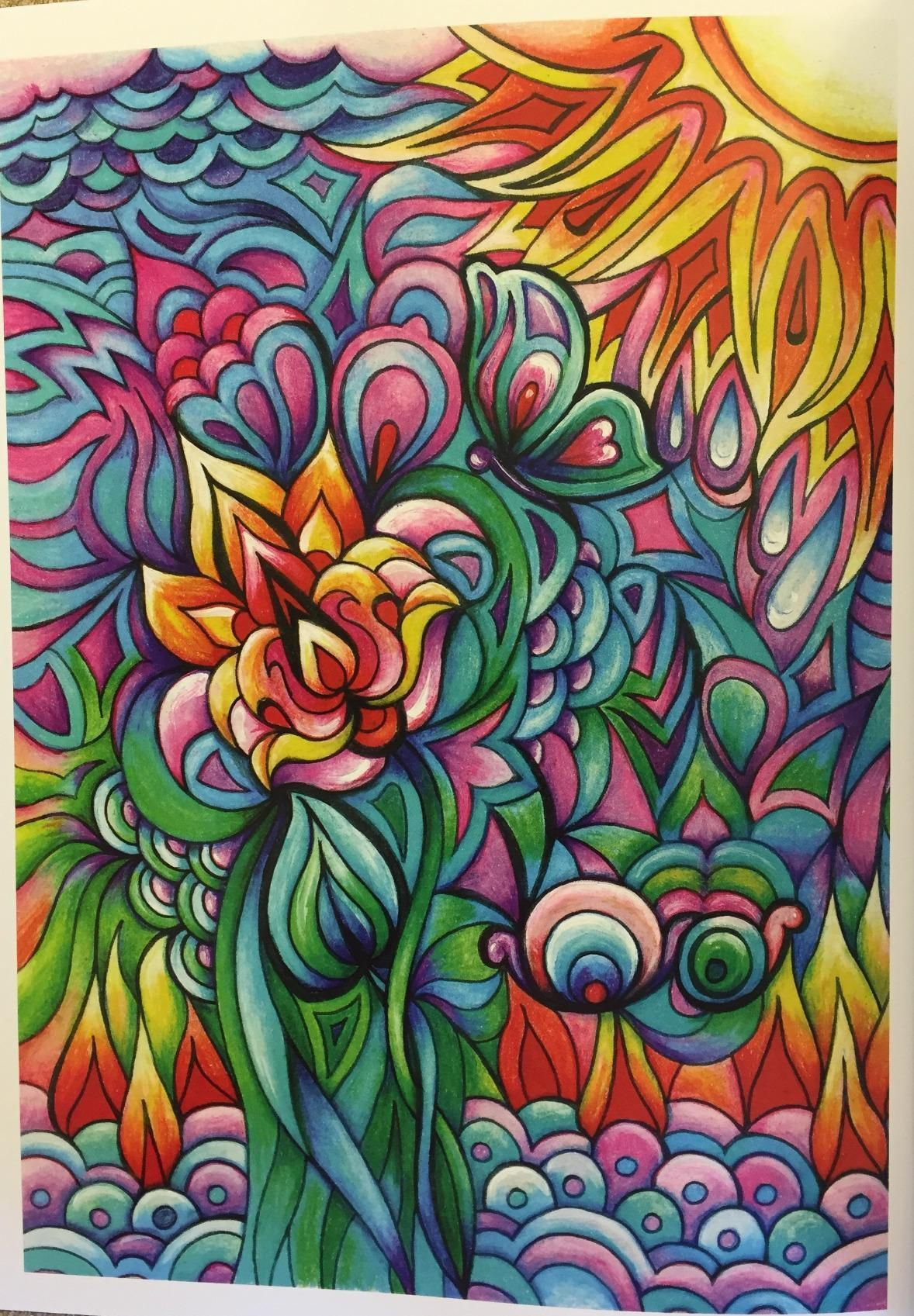 Creative Haven Floral Frenzy Coloring Book Books Miryam Adatto