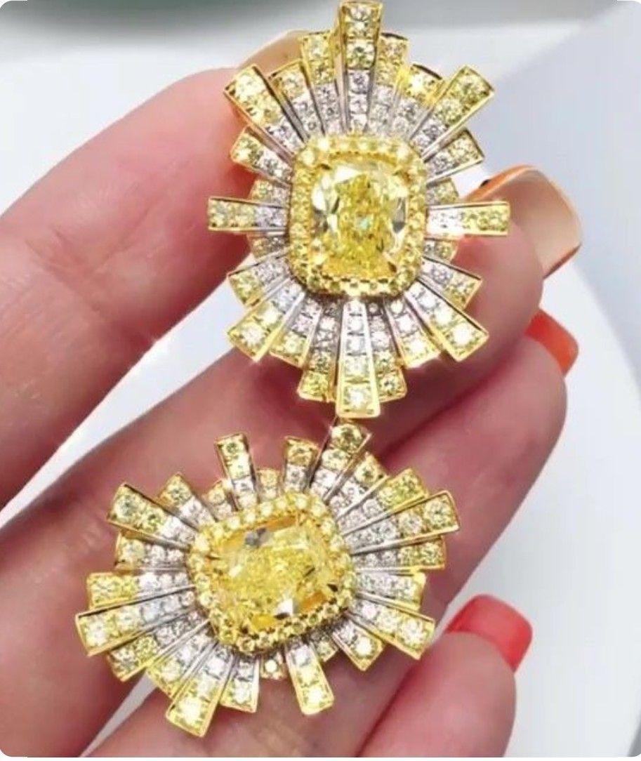 Garo Istepanyan In 2020 Yellow Diamond Earring Fine Jewelry Beautiful Diamond Earrings