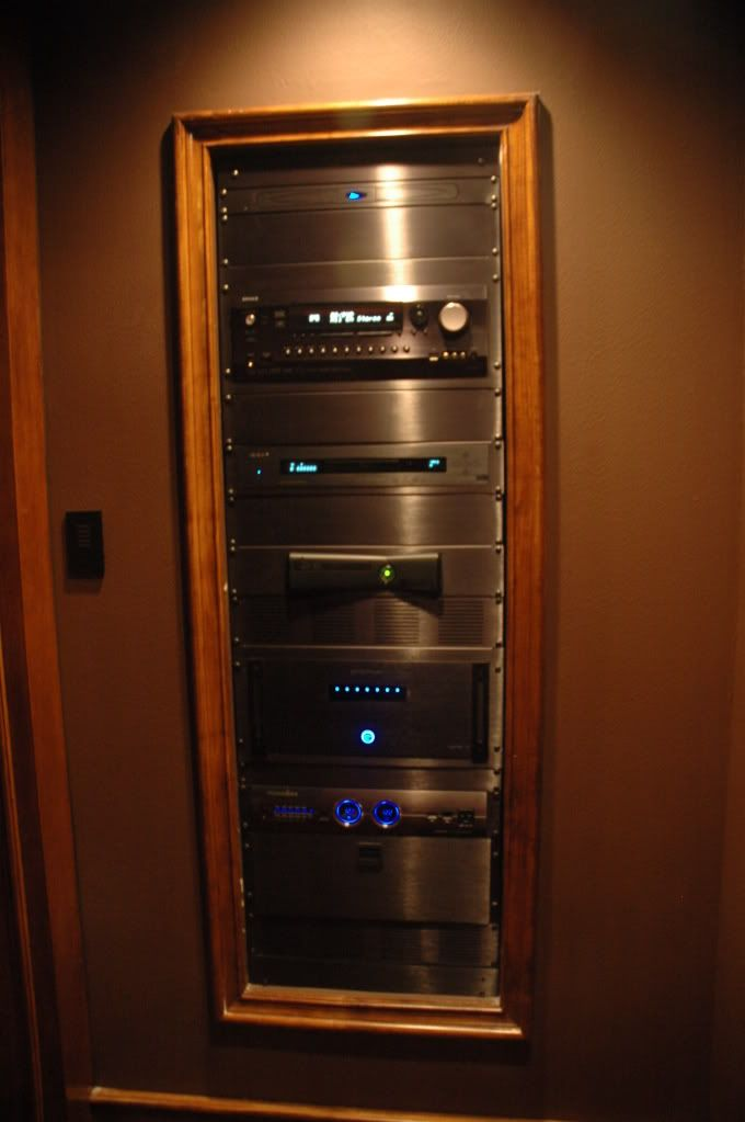 I Really Like The Look Of Properly Done In Wall Racks A Theater Room Keeps All Source Components Accessible Anywhere Else And Would Probably