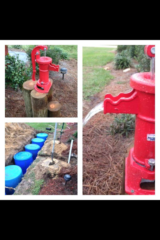 diy underground rain barrels using six 55 gallon barrels hand pump u0026 gutters