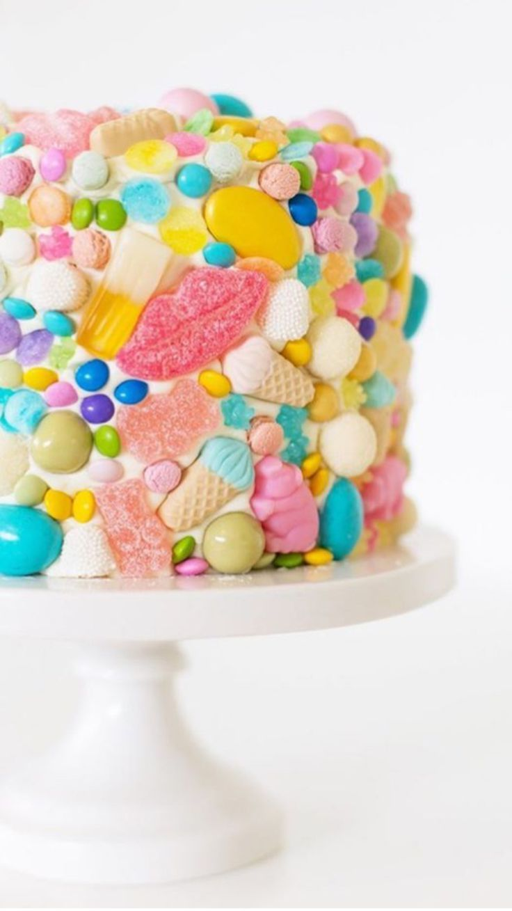 Candy Cake Yellow Bright Coloured Cake Kids Parties Pinterest