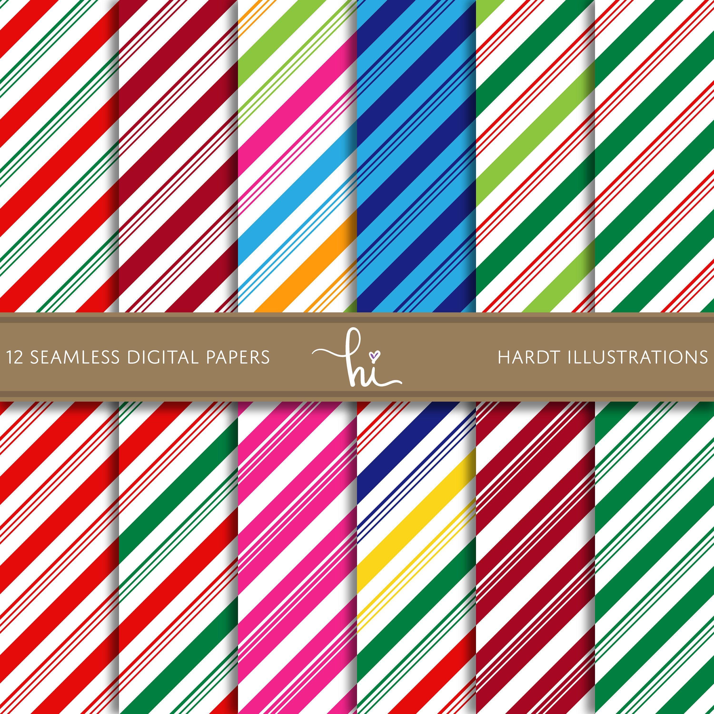 Candy Cane Stripes Digital Paper Christmas Wallpaper