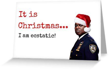 Brooklyn Nine Nine Christmas 2020 Brooklyn Nine Nine Captain Holt Christmas card, Quotes, Gifts