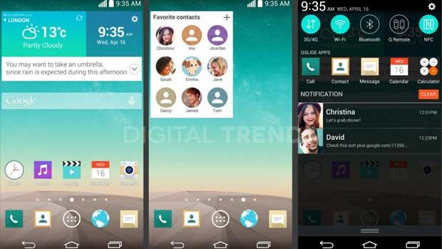 These supposed LG G3 screenshots reveal new UI features and more