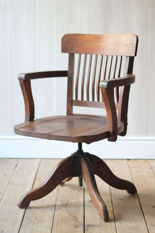 captains chair this is a lovely antique captains swivel chair it