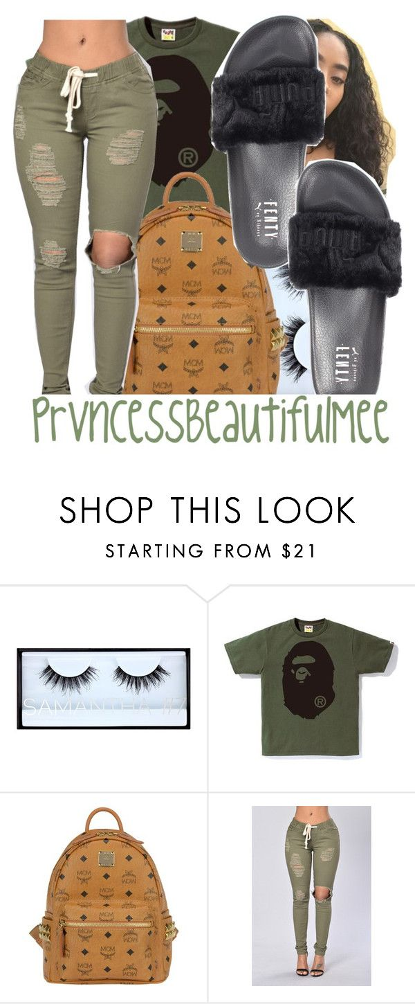 """"""""""" by prvncessbeautifulmee on Polyvore featuring Huda Beauty, MCM and Puma"""