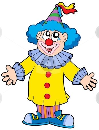 smiling clown stock vector payasos 2 pinterest rh pinterest com clown clip art images crown clipart