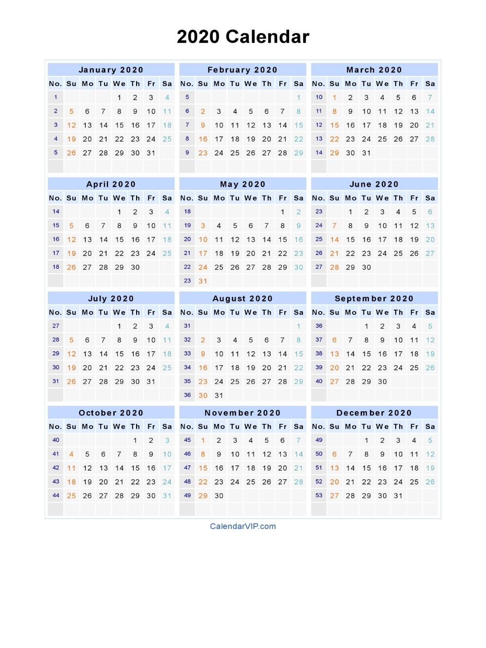 2020 Calendar Blank Printable Calendar Template In Pdf Word Excel 2020 Cale Printable Calendar Word Monthly Calendar Template Blank Monthly Calendar Template