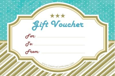 Free Printable · Gift Voucher Template