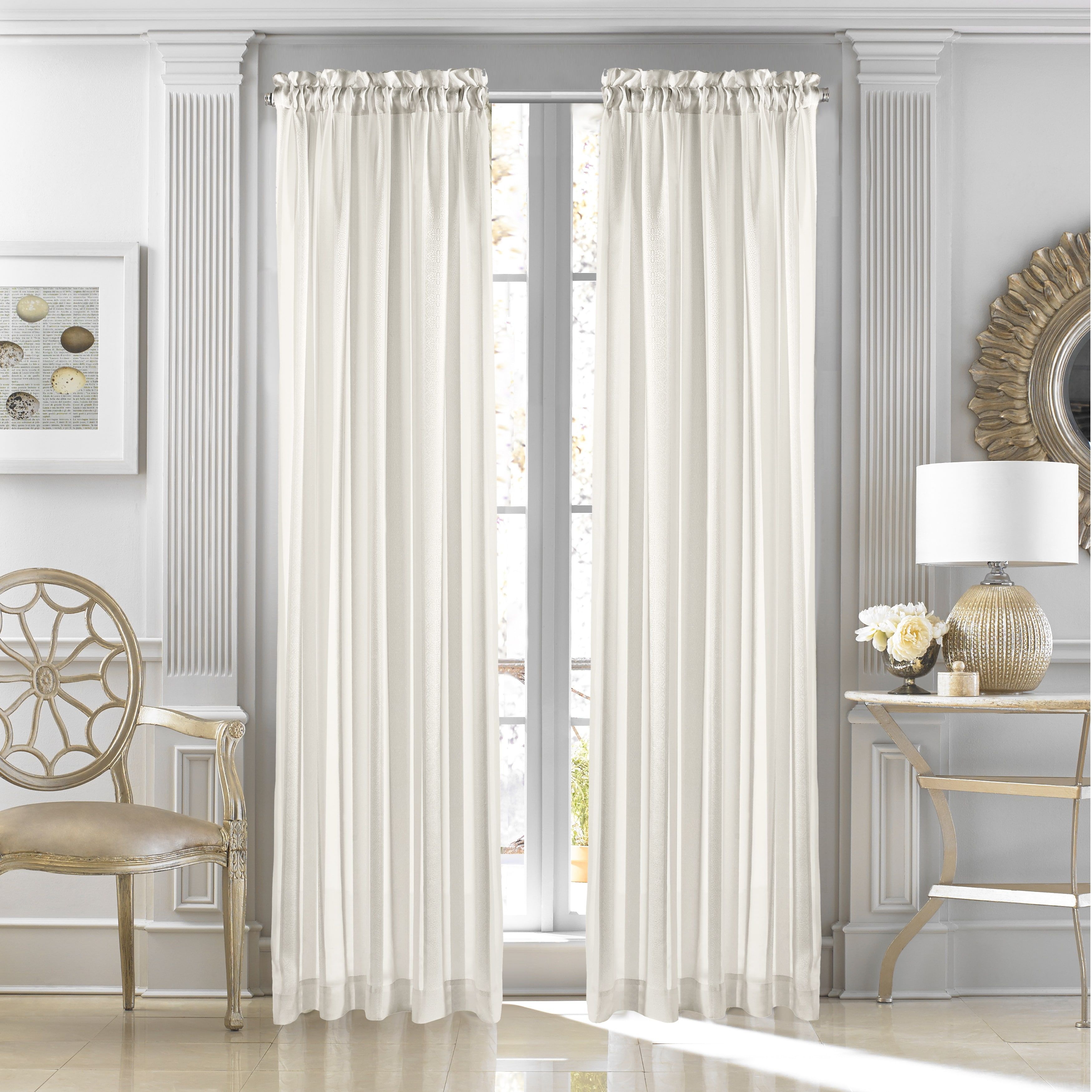 Five Queens Court Sutherland Woven Jacquard Panel Gold 50 x 108