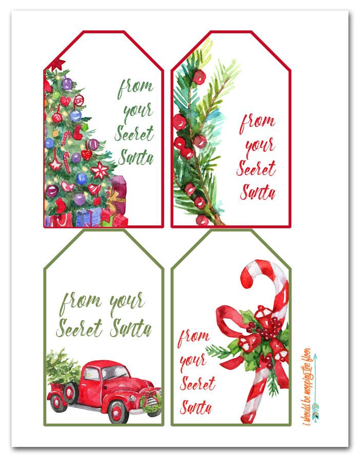 Free Printable Secret Santa Gift Tags Santa Gift Tags Secret Santa Gift Tags Printable Santa Gift Tags Printable