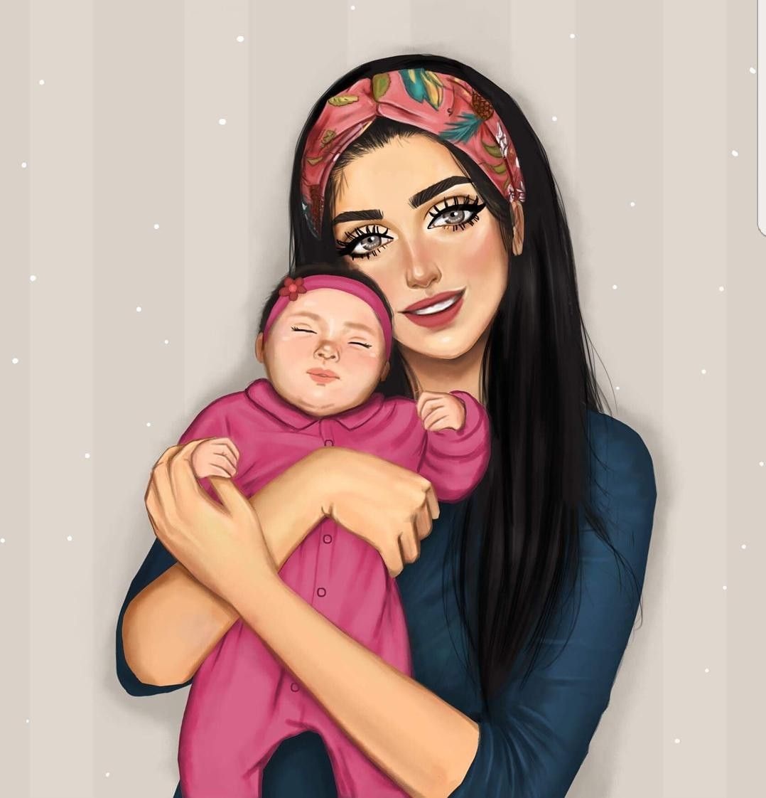 Pin By Skoubekeoduh On Drawing Mother Daughter Art Mom Art Sarra Art
