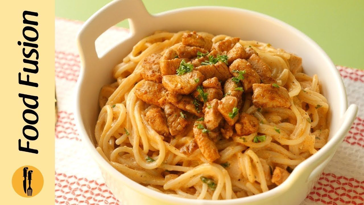Spaghetti with Tomato Cream Sauce Recipe By Food Fusion Spaghetti with Tomato Cream Sauce Recipe By Food Fusion